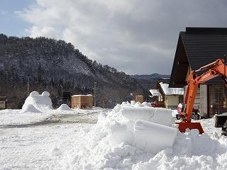 雪まつり会場準備_d0122374_22591346.jpg