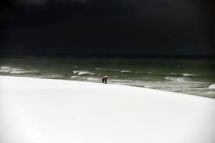 鳥取砂丘へ.....一面真っ白にはなってましたけど......._b0194185_18220879.jpg