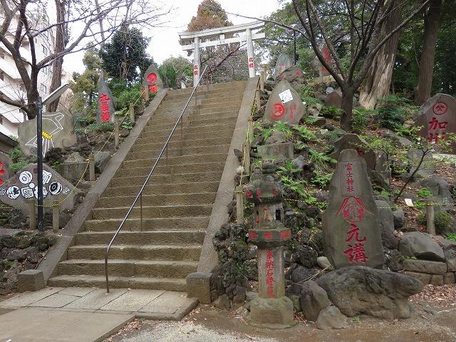 駒込富士神社①(新江戸百景めぐり60-1)_c0187004_12314338.jpg