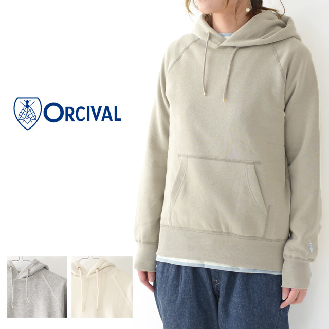 ORCIVAL [オーチバル・オーシバル] W Vintage French Terry Pullover [RC-9008] ヴィンテージフレンチテリープルオーバー・パーカー・LADY\'S _f0051306_14530432.jpg