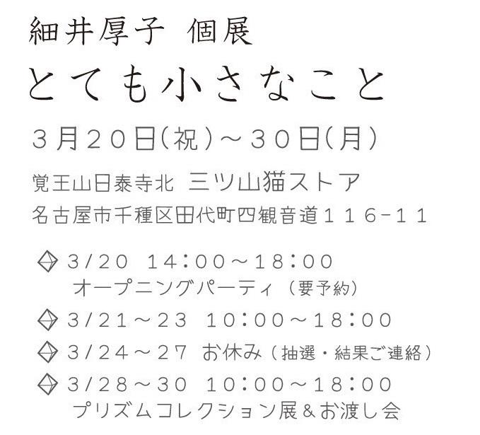細井厚子個展 とても小さなこと_e0305824_12581351.jpg