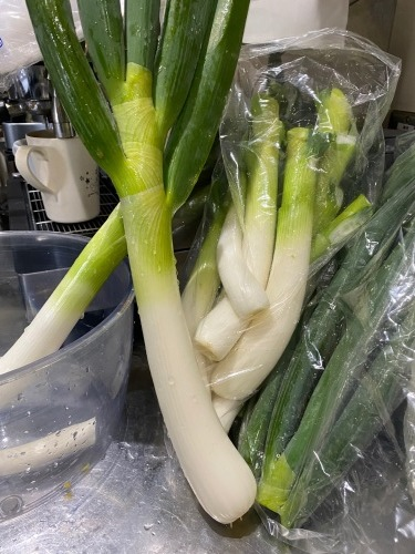 今日は 長ネギ ロマネスコ 菜の花 カリフローレ ルッコラ ブロッコリーの脇芽たっぶり使います_c0222448_13405480.jpg