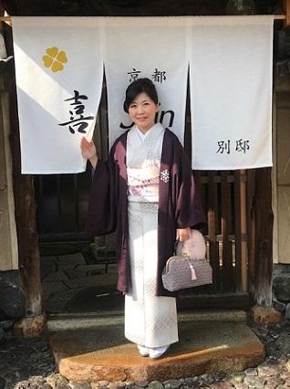 新年会・久子さま・藤井絞羽織・素敵な手作りバッグ。_f0181251_17510453.jpg