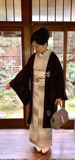 新年会・久子さま・藤井絞羽織・素敵な手作りバッグ。_f0181251_17531386.jpg