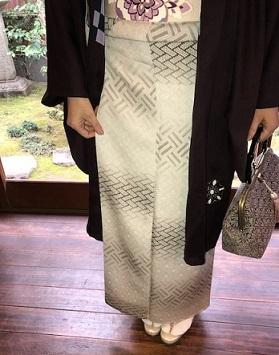 新年会・久子さま・藤井絞羽織・素敵な手作りバッグ。_f0181251_17540849.jpg