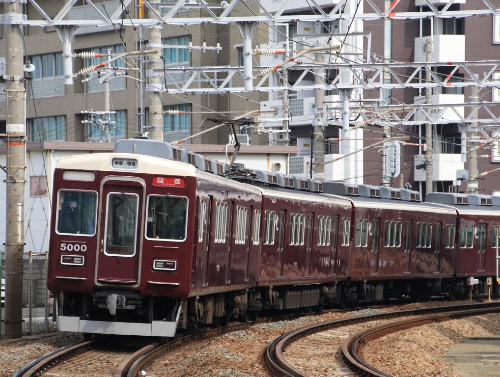 阪急5000系 5000F 正雀回送_d0202264_12183610.jpg