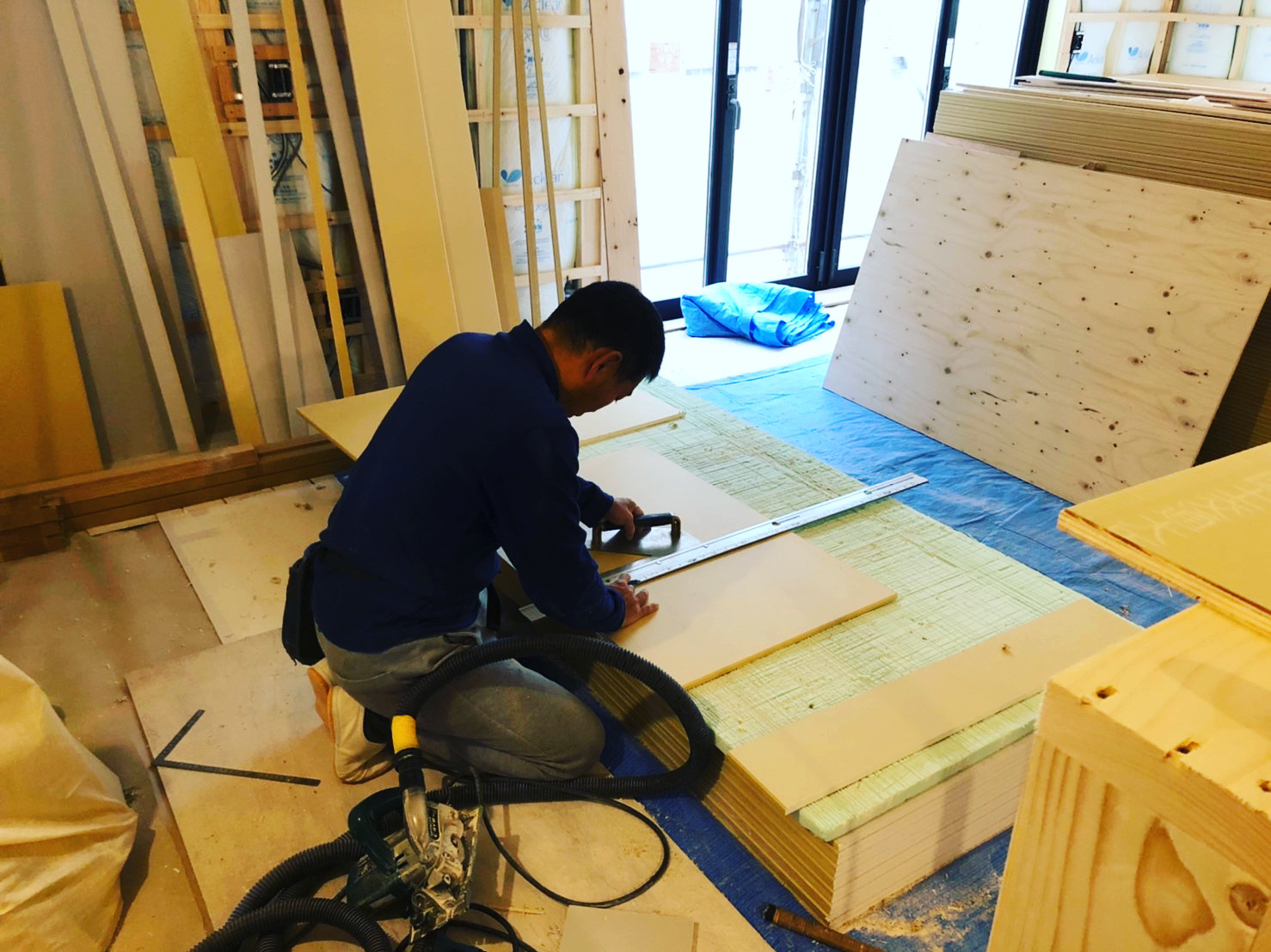 愛知県豊橋市H様 新築住宅工事その3 大工工事まもなく完了!_c0180474_22141144.jpg