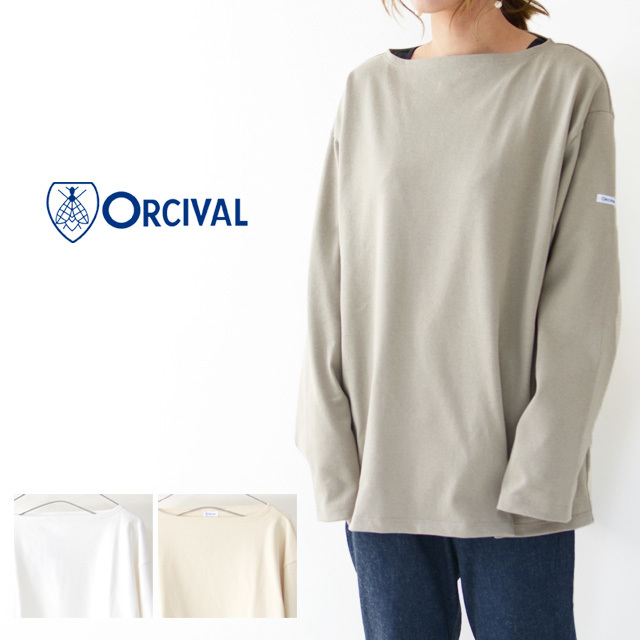 ORCIVAL [オーチバル・オーシバル] VASQUE SOLID BIGGER TEE [B211C] バスクシャツ・ビッグT・カットソー・無地・長袖Tシャツ MEN'S/LADY\'S _f0051306_15052568.jpg