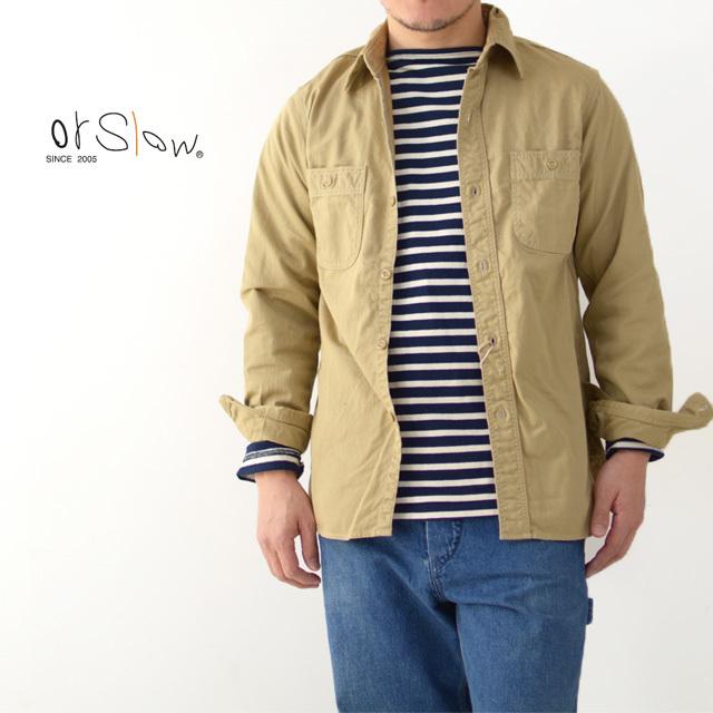 orslow [オアスロウ] M WORK SHIRT KAHKI TWILL [01-8070-40] ワークシャツ・チノツイル・長袖シャツ・MEN\'S _f0051306_15244517.jpg