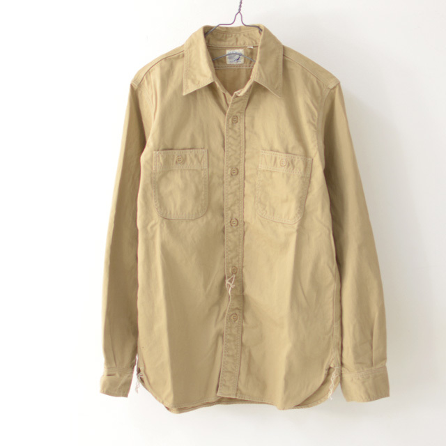 orslow [オアスロウ] M WORK SHIRT KAHKI TWILL [01-8070-40] ワークシャツ・チノツイル・長袖シャツ・MEN\'S _f0051306_15244528.jpg
