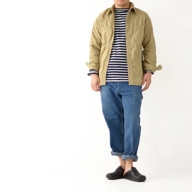 orslow [オアスロウ] M WORK SHIRT KAHKI TWILL [01-8070-40] ワークシャツ・チノツイル・長袖シャツ・MEN\'S _f0051306_15244624.jpg
