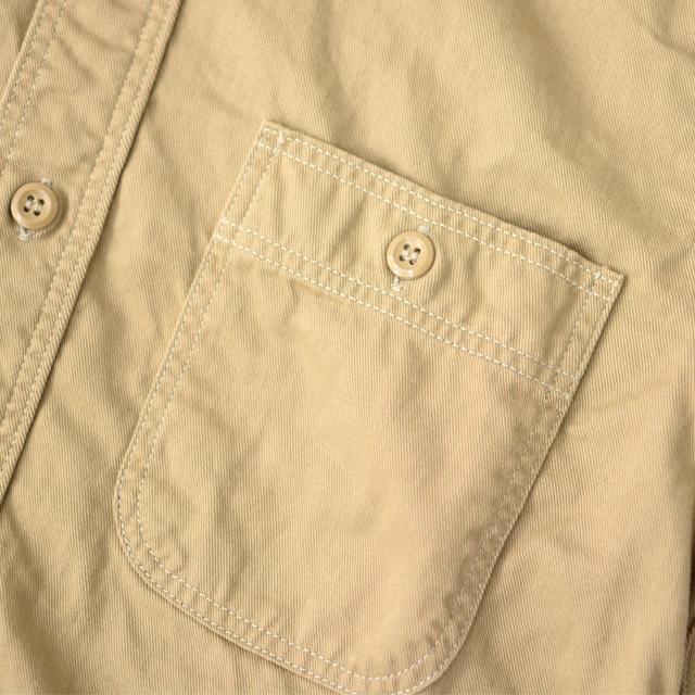 orslow [オアスロウ] M WORK SHIRT KAHKI TWILL [01-8070-40] ワークシャツ・チノツイル・長袖シャツ・MEN\'S _f0051306_15244659.jpg