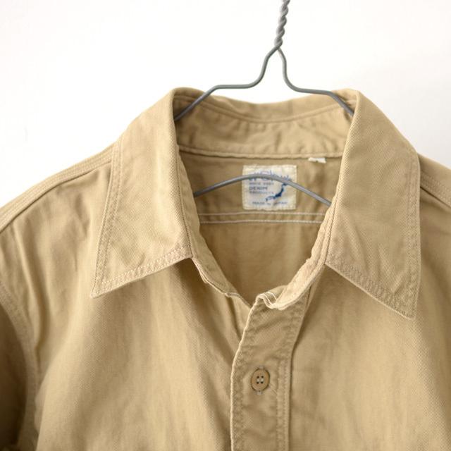 orslow [オアスロウ] M WORK SHIRT KAHKI TWILL [01-8070-40] ワークシャツ・チノツイル・長袖シャツ・MEN\'S _f0051306_15244699.jpg