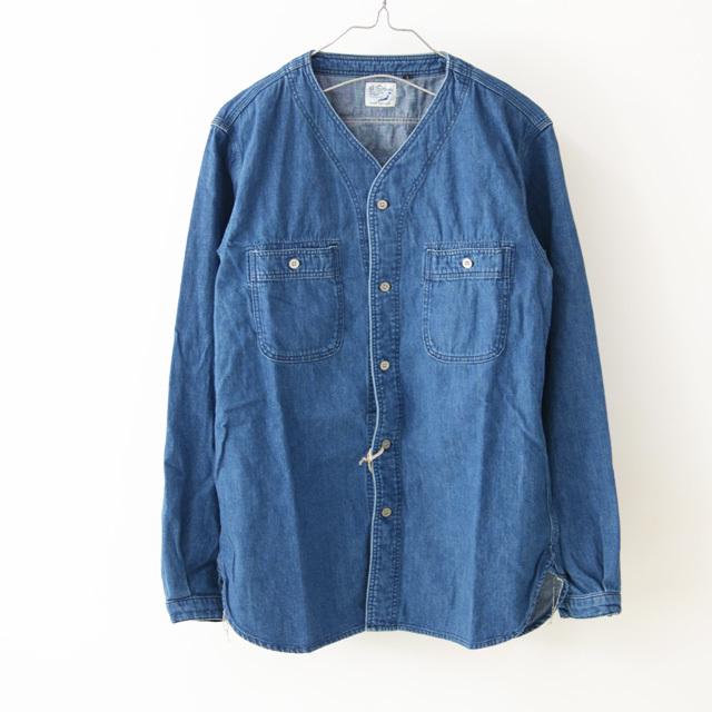 orslow [オアスロウ] M NO COLLAR SHIRTE [01-8073-95] ノーカラーシャツ・デニムシャツ・デニムジャケット・MEN\'S _f0051306_15393350.jpg