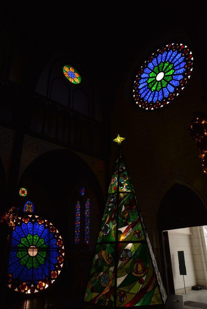 聖ザビエル天主堂内のクリスマスイルミネーション2019(遅まきですが)_e0373930_20591765.jpg