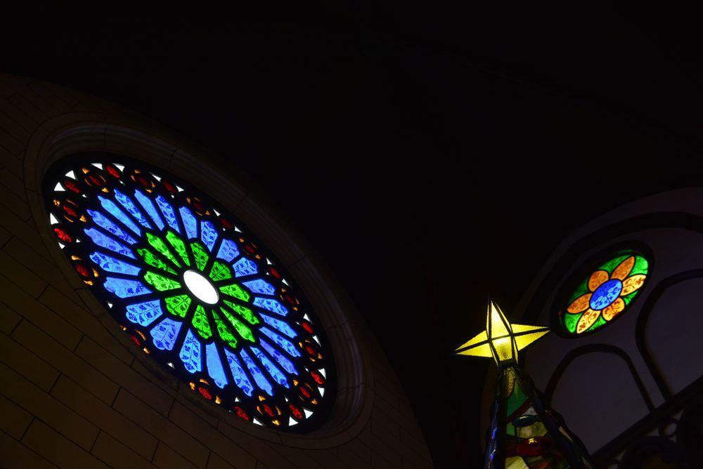 聖ザビエル天主堂内のクリスマスイルミネーション2019(遅まきですが)_e0373930_20591782.jpg