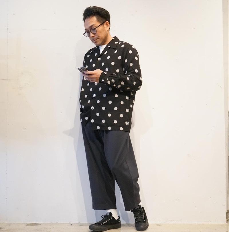 Styles DOTS SHIRT× 太めのパンツ_a0155932_10583398.jpg