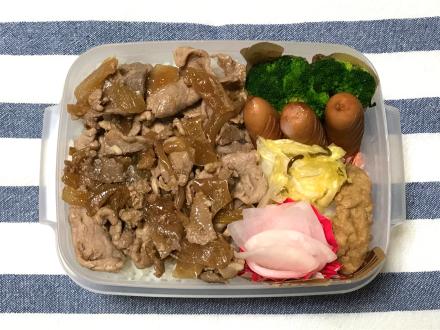 豚肉の甘辛煮弁当と、間食禁止!の話_d0384590_06260402.jpg