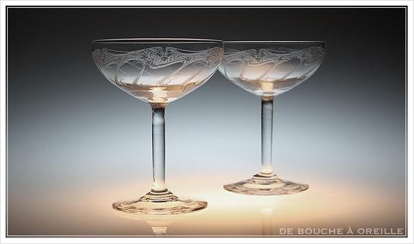 """アール・ヌーヴォー \""""Art Nouveau\"""" シャンパーニュ クープ フランス アンティーク オールドバカラ _d0184921_13234643.jpg"""