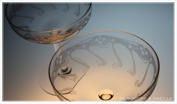 """アール・ヌーヴォー \""""Art Nouveau\"""" シャンパーニュ クープ フランス アンティーク オールドバカラ _d0184921_13315916.jpg"""