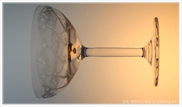 """アール・ヌーヴォー \""""Art Nouveau\"""" シャンパーニュ クープ フランス アンティーク オールドバカラ _d0184921_13402876.jpg"""