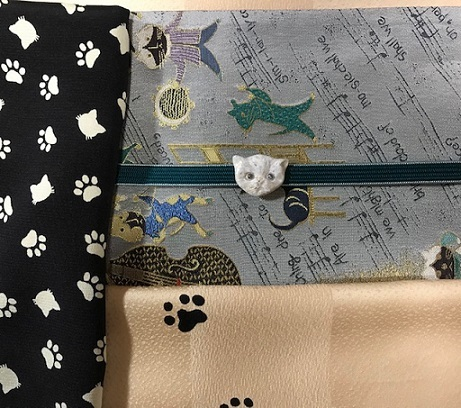 人見敏男さん猫の帯+猫の着物・明日臨時休業。_f0181251_17314897.jpg