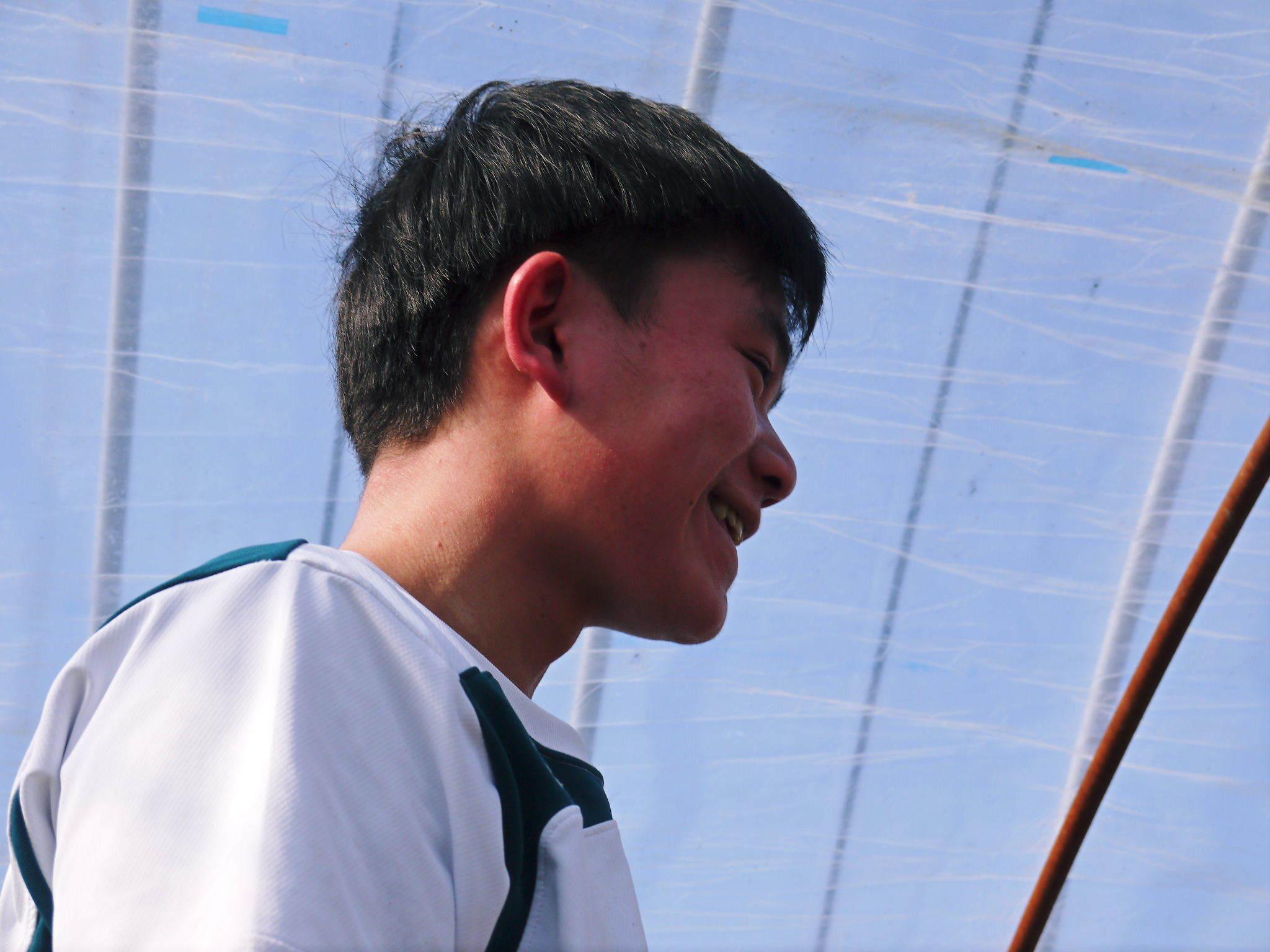 熊本ぶどう 社方園 ハウスの内張り作業を熊本農業高校からの農業実習と共に行っています(2020)後編_a0254656_17103041.jpg