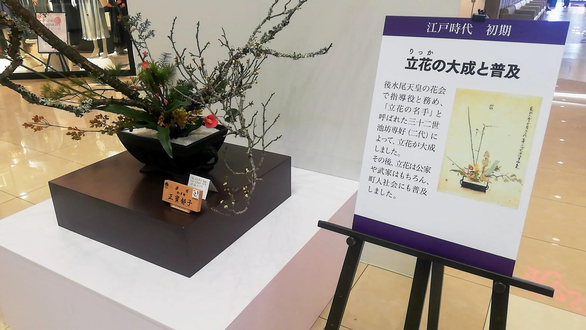ゆめタウン佐賀開催の池坊展へ_d0195183_20122964.jpg
