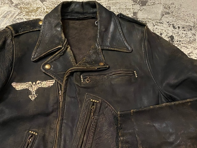 2月26日(水)マグネッツ大阪店ヴィンテージ入荷!!#3 Leather編! D-Pkt MC & Horsehide BallChain、SportsJKT、RED WING Engineer!!_c0078587_059169.jpg