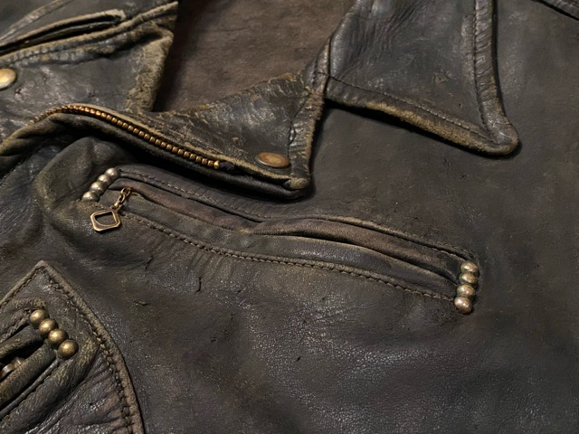 2月26日(水)マグネッツ大阪店ヴィンテージ入荷!!#3 Leather編! D-Pkt MC & Horsehide BallChain、SportsJKT、RED WING Engineer!!_c0078587_102665.jpg