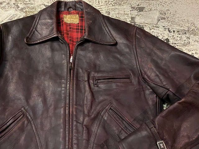 2月26日(水)マグネッツ大阪店ヴィンテージ入荷!!#3 Leather編! D-Pkt MC & Horsehide BallChain、SportsJKT、RED WING Engineer!!_c0078587_1151721.jpg