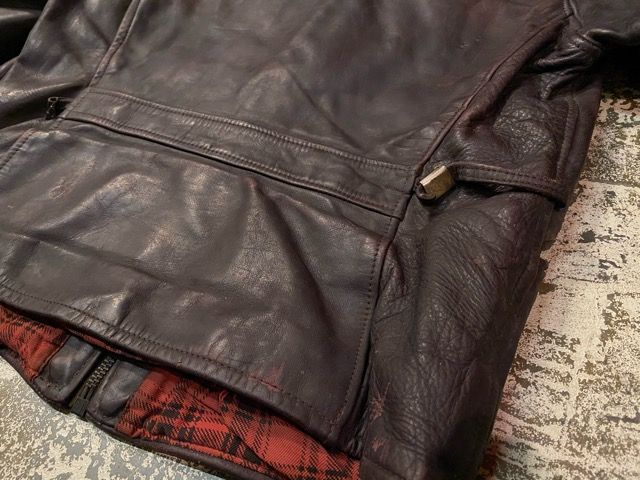 2月26日(水)マグネッツ大阪店ヴィンテージ入荷!!#3 Leather編! D-Pkt MC & Horsehide BallChain、SportsJKT、RED WING Engineer!!_c0078587_1164070.jpg