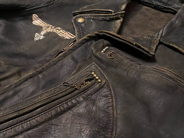 2月26日(水)マグネッツ大阪店ヴィンテージ入荷!!#3 Leather編! D-Pkt MC & Horsehide BallChain、SportsJKT、RED WING Engineer!!_c0078587_12156.jpg