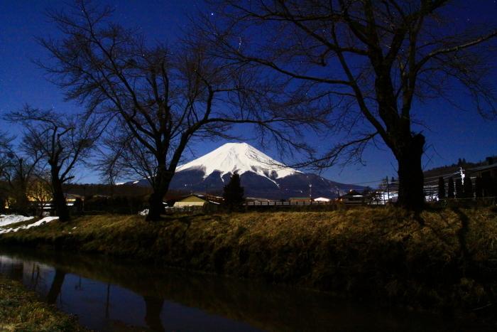 令和2年2月の富士 (15) 忍野新名庄川夜の富士_e0344396_15230213.jpg