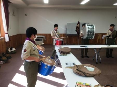 【ボーイ隊】 2月度隊集会「技能訓練 マーチングドラムとスカウトソング」_c0221521_17361351.jpg