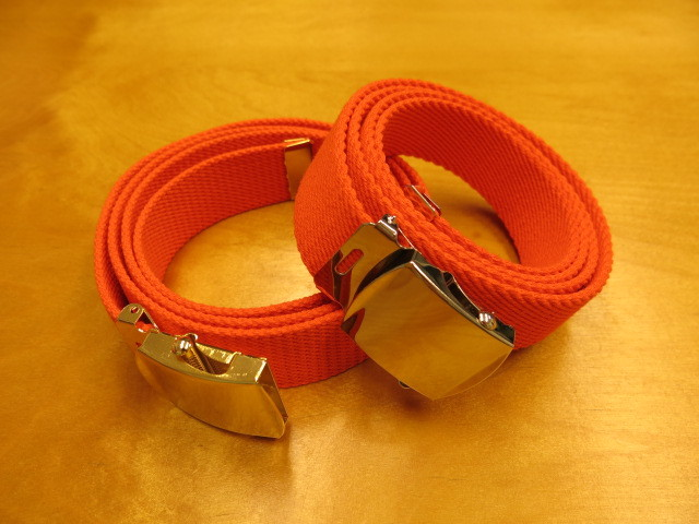 """Der SAMMLER solo × TheThreeRobbers COTTON GROSGRAIN BELT ORANGE\""ってこんなこと。_c0140560_13344666.jpg"