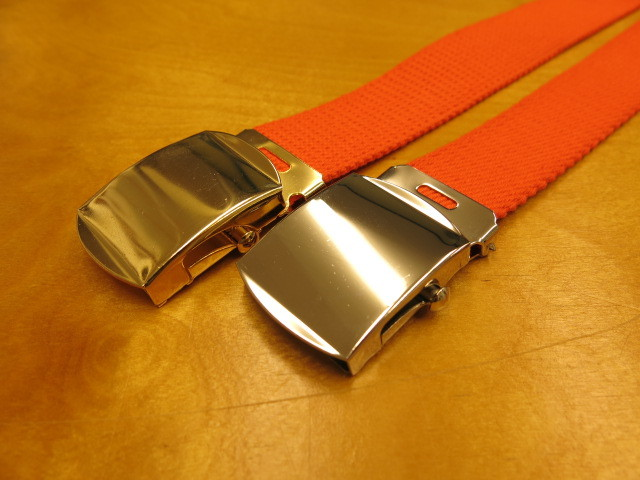 """Der SAMMLER solo × TheThreeRobbers COTTON GROSGRAIN BELT ORANGE\""ってこんなこと。_c0140560_13345293.jpg"