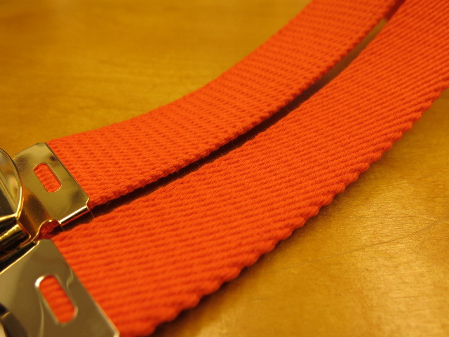 """Der SAMMLER solo × TheThreeRobbers COTTON GROSGRAIN BELT ORANGE\""ってこんなこと。_c0140560_13345802.jpg"
