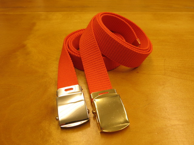 """Der SAMMLER solo × TheThreeRobbers COTTON GROSGRAIN BELT ORANGE\""ってこんなこと。_c0140560_13350620.jpg"