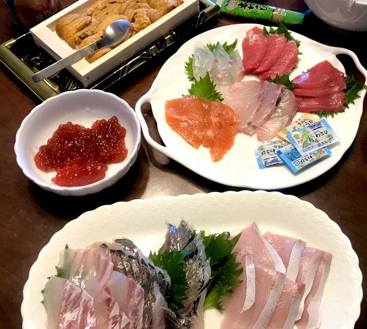 連休最終日*ランチは手巻き寿司!!_c0212604_1416422.jpg