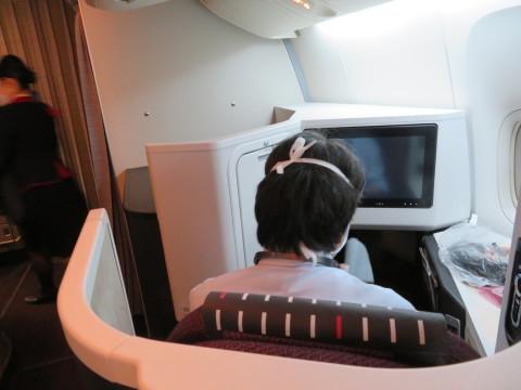ビジネスクラス機内の様子。2020年2月、台湾へGO!_d0019916_20122062.jpg