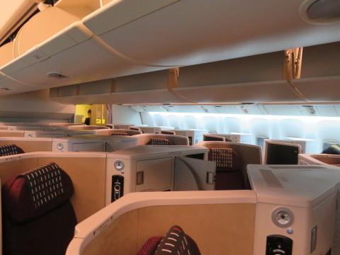 ビジネスクラス機内の様子。2020年2月、台湾へGO!_d0019916_20123735.jpg