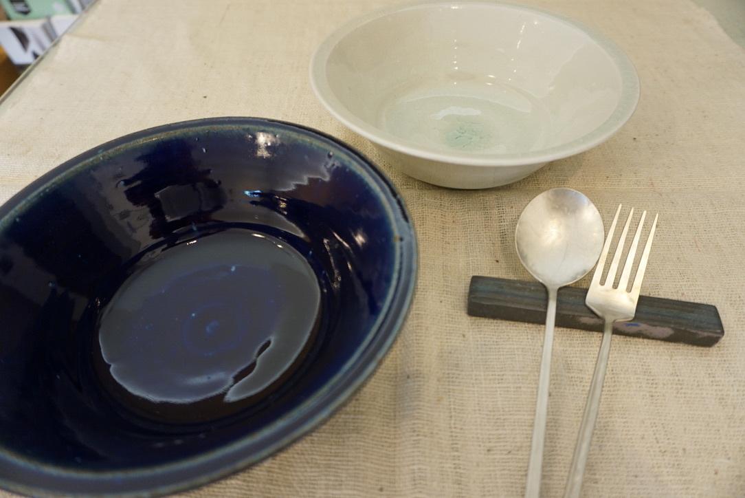 臼田けい子さんの瑠璃といす灰釉のうつわ 届きました_b0132442_14284825.jpeg
