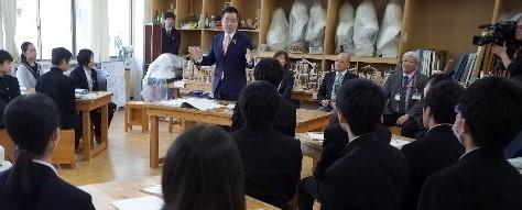 三日月知事の参観とご講評~「文化財を知り考える」第5回授業~_f0128362_23032188.jpg