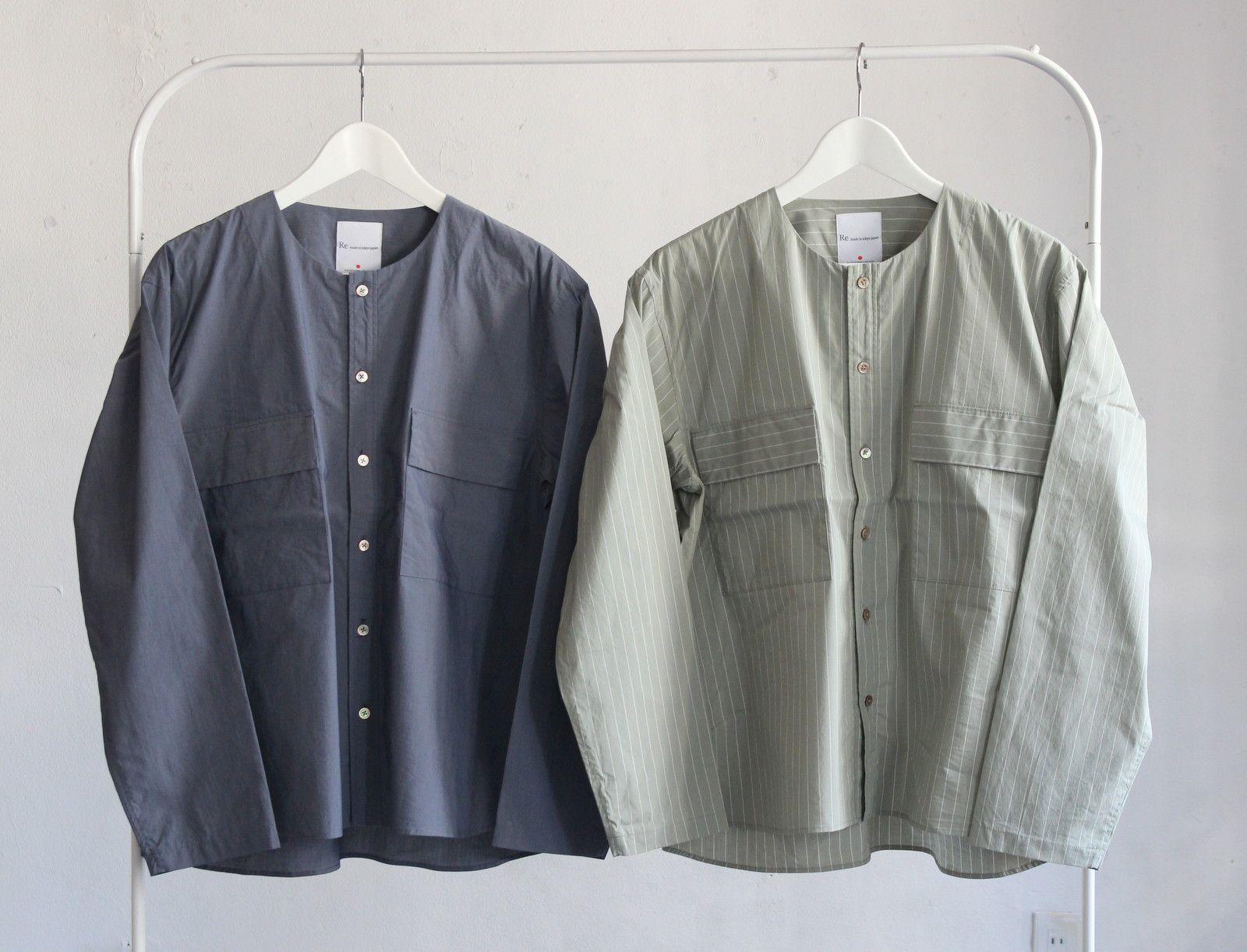 Cotton Nylon Broad Shirt Cardigan_c0379477_16414932.jpeg