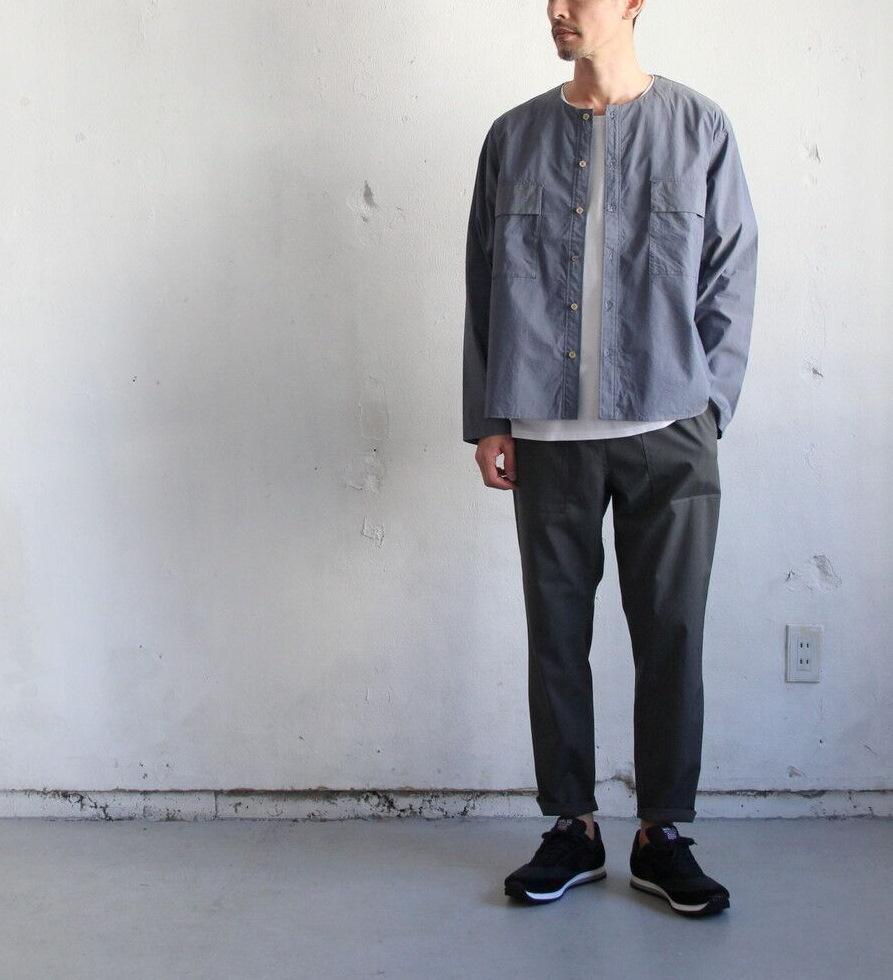 Cotton Nylon Broad Shirt Cardigan_c0379477_17112417.jpg