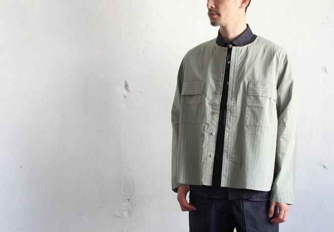 Cotton Nylon Broad Shirt Cardigan_c0379477_17133421.jpg