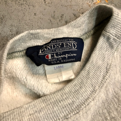 ◇ 80s Champion Reverse Weave By LAND'S END & MARCA BEER ◇_c0059778_13183971.jpg