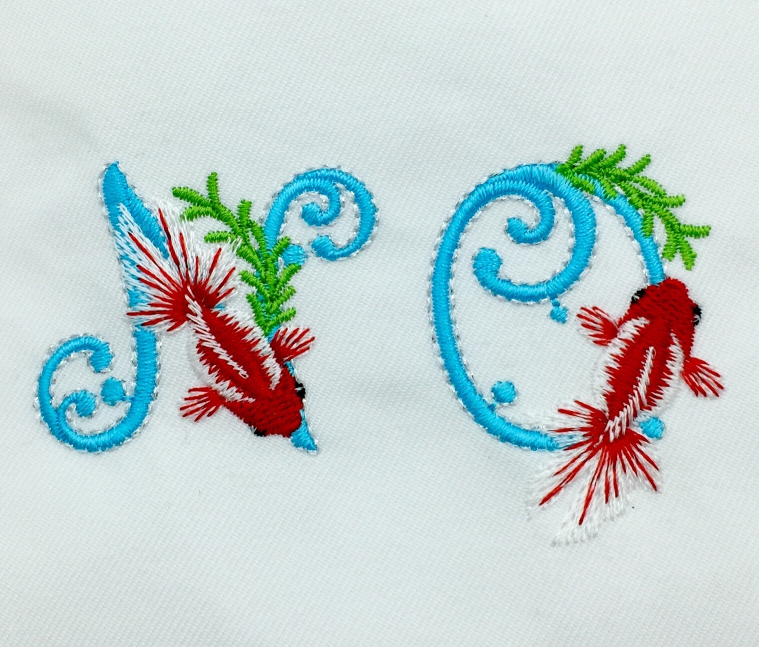 金魚のイニシャル刺繍ϵ( \'Θ\' )϶_e0385587_23341518.jpeg