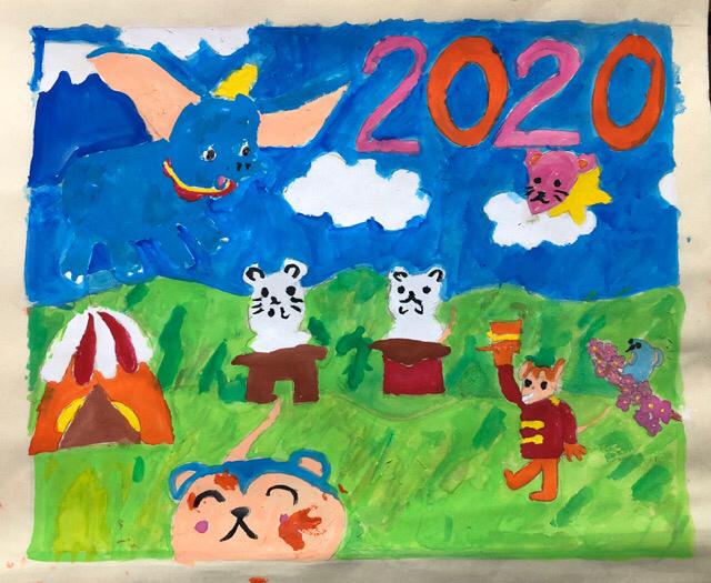 稲沢教室、児童コース、カレンダー完成作品2_f0373324_10415526.jpg